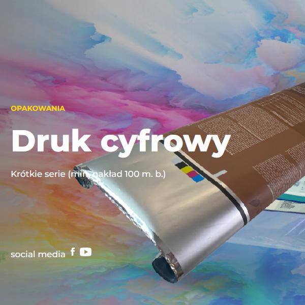 Digital print laminated foils and monofoils