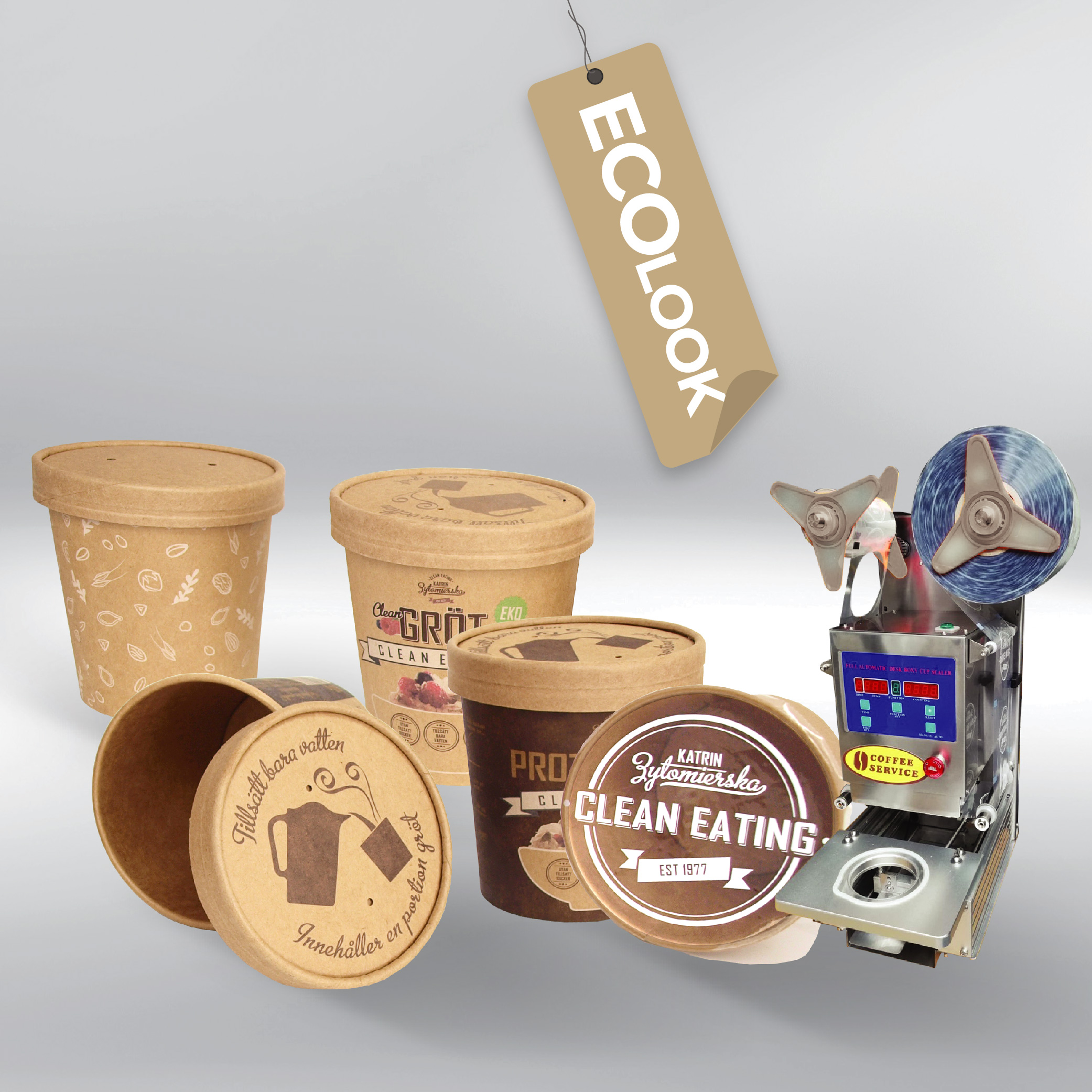 Paper CUPS with print + Cup sealer ZK1/S